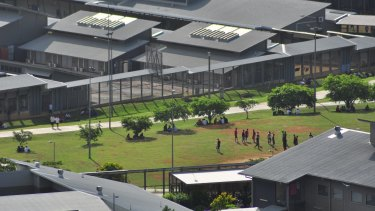 Christmas Island detention centre holds about 200 foreign nationals whose visas have been revoked on character grounds.