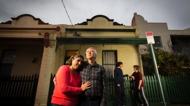 Fitzroy North residents Glen Mccallum and Anne Coveny, and their children Liam and James.