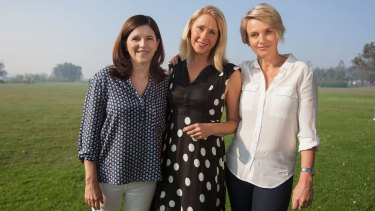 Shayne Higson, Senate candidate for the Voluntary Euthanasia Party, Tracey Spicer and Rachel Friend are united in grief and determination.
