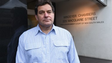 Joe Lorincz outside the Land and Environment court in Sydney. The Mittagong property owner says his faith in the system has been destroyed.