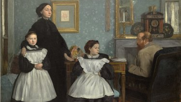 Edgar Degas, Family portrait, also called The Bellelli Family, 1867. Musee d'Orsay, Paris. Copyright Musee d'Orsay, Dist. RMN-Grand Palais/Patrice Schmidt.