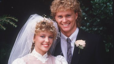 Kylie Minogue and Craig McLachlan played siblings in Neighbours.