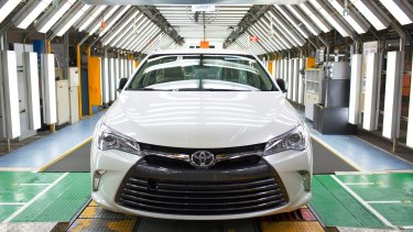 A new Camry at the the Altona plant in 2015.