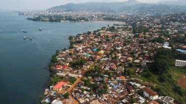 Freetown in Sierra Leone, one of the poorest countries on Earth.