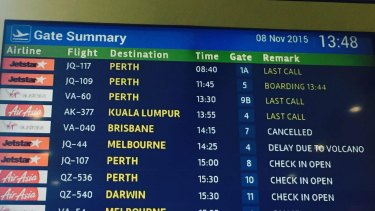 Flight cancellations in Bali.