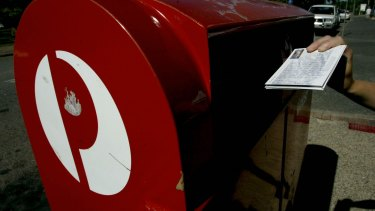 "Australia Post has returned to ""modest"" profit."