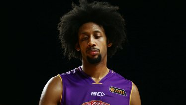 In strife: Injured star Josh Childress did not play in the loss to Adelaide but has been charged by the NBL.