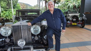 The Palmer United Party leader had a habit of showing up at events in classic or expensive cars.