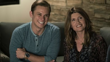 Billy Magnussen, left, and Sharon Horgan in a scene from  Game Night.