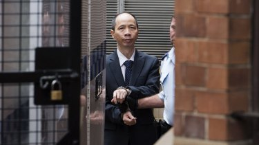 """Lian Bin """"Robert"""" Xie on trial at the NSW Supreme Court in 2015"""
