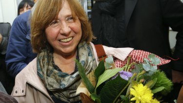 """Belarusian journalist Svetlana Alexievich: """"To become a winner is a huge event. Such an unexpected, almost unsettling feeling."""""""