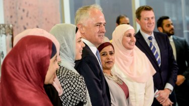 Malcolm Turnbull visits the Islamic Museum of Australia in Melbourne.