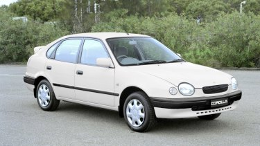 A white Toyota Corolla similar to the one seen with two men in it around the time of Mr Galea's murder.