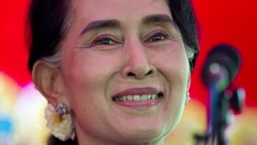 Democracy leader Aung San Suu Kyi.