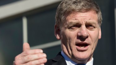 Outgoing New Zealand Prime Minister Bill English.