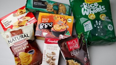 "A selection of foods labelled ""No added MSG"" but contain identical ingredients."