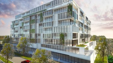 The proposed 149-unit apartment complex at 35-41 Dalgety Street in Oakleigh.