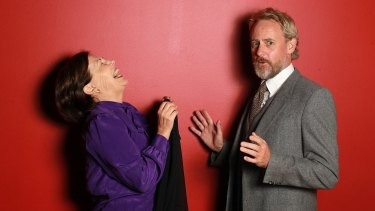Wendy Strehlow (left) is a patient of Jo Turner's character Sigmund Freud in <i>Hysteria</i>.
