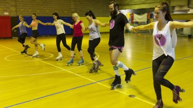 Exercise on wheels: The Rollerfit workout, like the one at Indoor Central in Mascot, is gaining popularity.