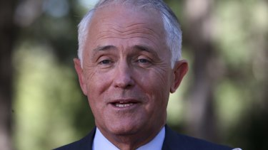 Prime Minister Malcolm Turnbull visited Soldier On in Canberra on Friday.