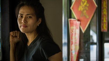 Maricar Virata, at home in Darwin, found herself working up to 18 hours a day and getting paid as little as $3 an hour.