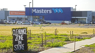 Woolworths' chain Masters has struggled.