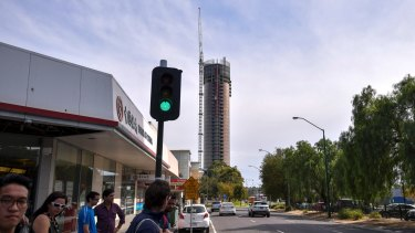 Whitehorse Towers, a new apartment building in Box Hill, is 36 storeys. A new plan would make 30 storeys the preferred height for some of the area.