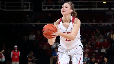 Distance learning: Alanna Smith admits it has been a massive adjustment moving to the US to join the University of Stanford women's basketball program.