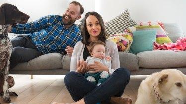 Sasha Milinkovic, her fiance Dan and son Morris Bobby Finch.