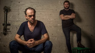 Cautionary tale: The Resistable Rise of Arturo Ui star Hugo Weaving and STC artistic director Kip Williams.