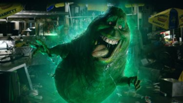 Sticky situation: Slimer from Ghostbusters represents a freaky form of frightening.