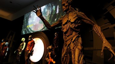 Ms Slack-Smith's favourite piece of Marvel memorabilia - a model of Groot from the 2014 movie Guardians of the Galaxy.