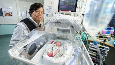 Tough call: Associate professor Kei Lui says it's harder deciding for a baby than for yourself.
