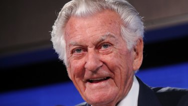 Former prime minister Bob Hawke on Wednesday