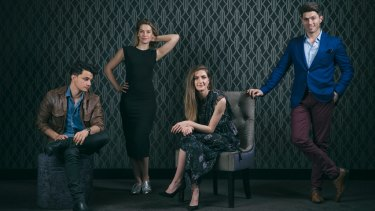 The Aussie cast of Beautiful: (from left) Mat Verevis, Amy Lehpamer, Esther Hannaford and  Josh Piterman.