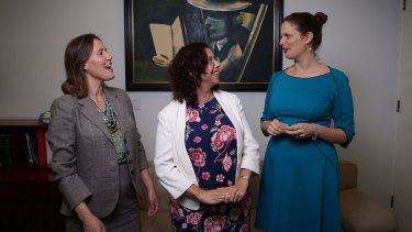 MPs Kelly O'Dwyer, Amanda Rishworth and Kate Ellis catch up in December.