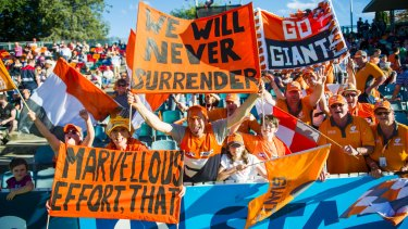 The GWS Giants are aiming to secure 10,000 Canberra members.