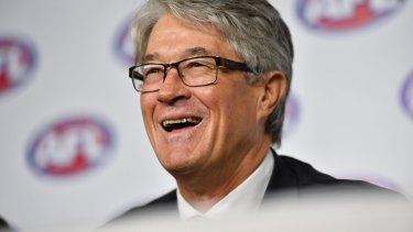 Retiring AFL chairman Mike Fitzpatrick.