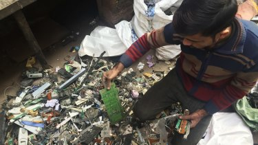 Imran Mansoori is one of an army of e-waste recyclers in India.
