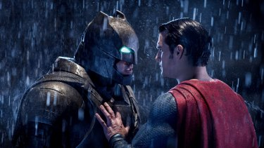 Ben Affleck and Henry Cavill in <i>Batman v Superman: Dawn of Justice</i>.