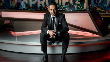 Waleed Aly on the set of <i>The Project</i>.