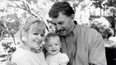 He's my father: John Wallace with wife Denise, whom he met in 1976, and daughter Kate.
