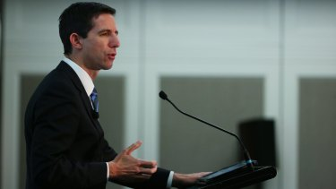 Education Minister Simon Birmingham is quick to blame teacher unions for wanting bigger education budgets.