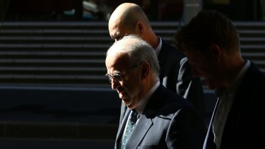 Eddie Obeid leaves the NSW Supreme Court on May 8, 2015.