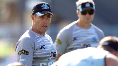 Staying on: Cronulla coach Shane Flanagan.