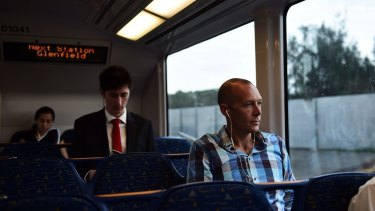 """They'll all come here"": Commuter Damien Selakovic believes the line will become increasingly popular."