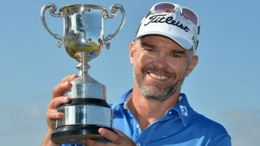 Golden oldie: Michael Long, 47, made history by becoming one of the oldest winners of the tournament.