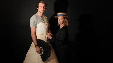 Harry Greenwood plays an older woman, while Heather Mitchell plays a young man.