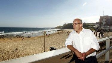 Luke Foley at the beach in Newcastle.
