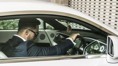 Salim Mehajer arrives at Auburn Council in January.